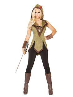 Robin Hood Adulto Donna Travestimenti Costume Completo TV Film Party Da Donna Donna