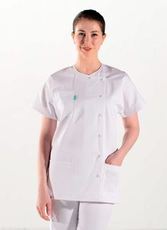 blouse blanche clemix Nursing Outfits, Nursing Clothes, Nurse Costume, Annie, Chef Jackets, Graphic Design, Costumes, Fashion, Aprons