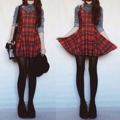 Ideas for clothes grunge alternative fashion plaid skirts Indie Outfits, Grunge Outfits, Fall Outfits, Cute Outfits, Fashion Outfits, Fashion Mode, Dark Fashion, Grunge Fashion, Gothic Fashion