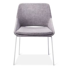 • Plush fill<br>• Thin steel legs<br>• Sturdy construction<br><br>Eat in style and comfort in the Dining Chair from Modern by Dwell Magazine thanks to its unique cradle shape. A functional accent, this dining room chair features thin legs and slot in the back.