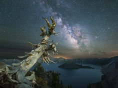 The Milky Way dazzles above Crater Lake, Oregon, in this National Geographic Photo of the Day.