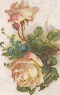Vintage rose print... I think would make a beautiful white ink tattoo.
