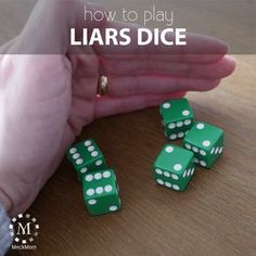 How to play the game Liar's Dice – MeckMom William Higinbotham developed an analogue Family Card Games, Fun Card Games, Dice Games, Activity Games, Games For Kids, Games To Play, Play School Games, Learning Games, Cubes