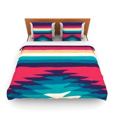 """One qty SALE price Nika Martinez """"Surf"""" QUEEN Fleece Duvet Cover art home decor style dreamhome color Tribal bedding"""