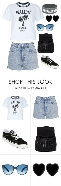 """""""Untitled #4052"""" by kaitoven on Polyvore featuring New Look, Topshop, Vans and Dollydagger"""