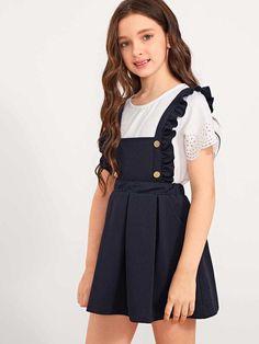 Kids Outfits Girls, Little Girl Outfits, Girls Fashion Clothes, Little Girl Fashion, Teen Fashion Outfits, Kids Fashion, Cute Outfits, Baby Girl Party Dresses, Cute Girl Dresses