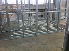 Steel Frame House - Underfloor heating in main bedroom bathroom