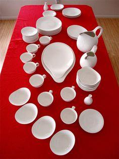 dinnerware by Eva Zeisel, Hi White pattern, 1950