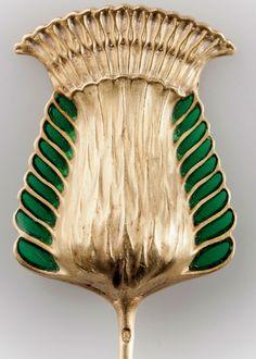 Lalique fleur de chardon tiepin