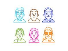Shift Avatars #character #vector #avatar