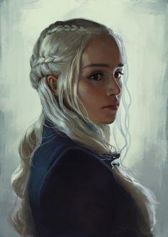 丹妮莉丝·坦格利安(Daenerys Targaryen), Mr' Q on ArtStation at https://www.artstation.com/artwork/ONxZJ