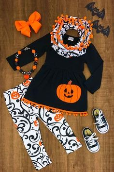 US Stock Kids Baby Girl Halloween Top T-shirt Long Pants Headband Outfit Clothes Baby Girl Tops, My Baby Girl, Halloween Outfits, Holiday Outfits, Toddler Outfits, Kids Outfits, Baby Outfits, School Outfits, Summer Outfits