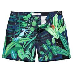 085b435faa Orlebar Brown - Blue Bulldog Mid-Length Printed Swim Shorts for Men - Lyst