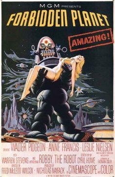 Forbidden Planet (1956) Fred Wilcox Original Movie Poster Design