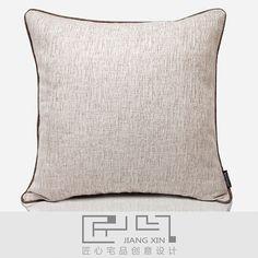 匠心宅品 新中式样板房/软装靠包抱枕 慕白肌理滚绳方枕{不含芯¥156.00