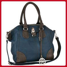 MG Collection Hamilton Oversize Shopper Tote Convertible Shoulder Bag, Blue, One Size - Shoulder bags (*Amazon Partner-Link)
