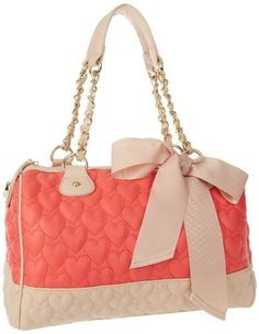 Betsey Johnson Coral and Cream Bow Bag Betsy Johnson Purses, Betsey Johnson Handbags, Cute Handbags, Purses And Handbags, Fashion Handbags, Fashion Bags, Bow Bag, Cute Purses, Backpack Purse