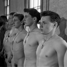 Male military exams nude physical
