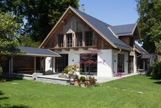 Farmhouse Renovation, Farmhouse Remodel, Dream House Exterior, Dream House Plans, Swiss House, Interior Exterior, Home Fashion, Future House, Modern Farmhouse