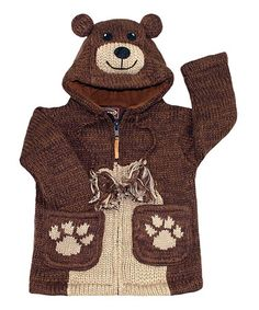 Take a look at this Brown Bear Hooded Sweater by Kyber Outerwear on #zulily today!