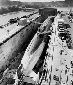 melisaki: Trident Class USS Ohio photo by Randy Hayes for DOD, Bangor Drydocks 1983 Go Navy, Royal Navy, Naval History, Women's History, British History, Military History, Ancient History, American History, Native American