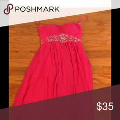 Beautiful Pink Dress Strapless pink dress only wore once Fiesta Dresses Strapless