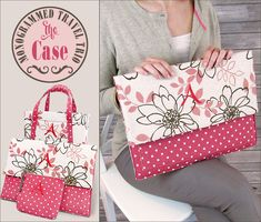 Monogrammed Travel Trio - The Device Case: Janome America (Sewing Tips & Tricks) Sewing Hacks, Sewing Tutorials, Sewing Crafts, Sewing Projects, Sewing Patterns, Free Tutorials, Memory Crafts, Fabric Boxes, Janome