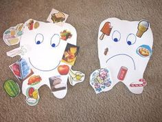 Passive Program: Happy Teeth and Sad Teeth (Use for Children's Dental Health Month in February.)