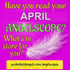 💎 💜 To read YOUR APRIL 2017 Angelscope CLICK HERE ➡  💜 💎 http://www.pocketfulofangels.com/angelscopes 💎 💜  💎 To discover what YOUR star sign says about you CLICK HERE ➡  💜 💎 http://www.tranquilwaters.uk.com/astrology  💜 Angelscopes are very much like horoscopes, but are written with angelic inspiration, using Angel message cards for guidance.  ♈ ♉ ♊ ♋ ♌ ♍ ♎ ♏ ♐ ♑ ♒ ♓   #angels #free #angelcards #guidance #angelscopes #horoscopes