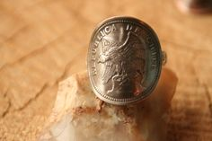 Old Chile 1933 CONDOR 20 Centavos Coin Ring with by coinsanthings, $22.98