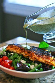 Sweet potato crusted fish with cilantro lime vinaigrette....