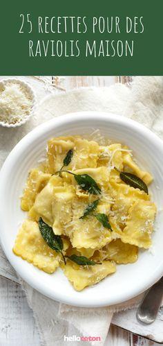 Aux épinards, à la ricotta, au fromage, aux champignons, aux crevettes... 25 recettes pour des raviolis maison ! #recette #cuisine #raviolis #raviolismaison