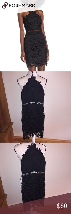 NWT ASTR The Label black lace body-con dress Bought from Nordstrom. Doesn't fit me right, would be perfect for a night out or summer wedding Astr Dresses Backless