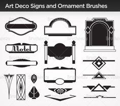 Art Deco Sign Brushes and Ornament Brush Pack - Free Photoshop Brushes at Brusheezy!