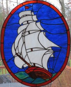 Tall Ship - Delphi Stained Glass