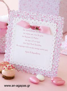 Baby Girl Christening, Girl Baptism, Kids And Parenting, Stationery, Place Card Holders, Baby Shower, Frame, Party, Christmas