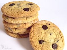 Olive Oil Chocolate Chip Cookies   DeNIKAtessen - Recetas de Cocina