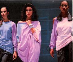 Runway shot from Versace's S/S 1987 show. models: Suzanne Von Aichinger, Clarissa Burt, and Marpessa