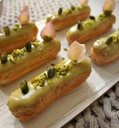 Éclairs are the new cupcakes! They are wonderfully versatile; with our choux recipe from here you can get creative with a variety of fillings and edible decorat Great Desserts, Delicious Desserts, Dessert Recipes, Yummy Food, Donut Recipes, Cooking Recipes, Eclair Recipe, Best Eclairs Recipe, Choux Pastry