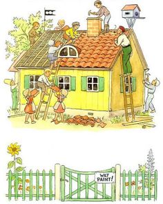 Buy Peter's Old House by Elsa Beskow at Mighty Ape NZ. Peter lives in a shabby old house in the village. He builds boats for the children, shows visitors around in ten different languages, and is the villa. Elsa Beskow, Vintage Book Art, Vintage Images, Children Of The Forest, Fantasy Illustration, Building Toys, Vintage Children, Old Houses, Childrens Books