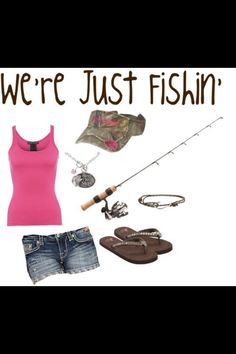 Love my fishing outfits. Except switch the visor for my lucky Carharrt hat Summer Wear, Spring Summer Fashion, Spring Outfits, Girl Outfits, Country Style Outfits, Country Fashion, Hunting Clothes, Hunting Outfits, Fishing Girls