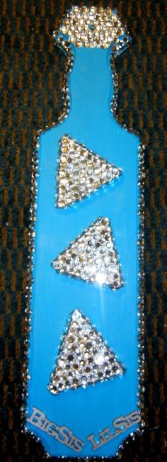 What a beautiful and sparkly paddle!