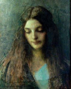Pascal Dagnan-Bouveret (French, 1852-1929) - Portrait of Woman. Sketch for Consolatrix Afflictorum, 1899