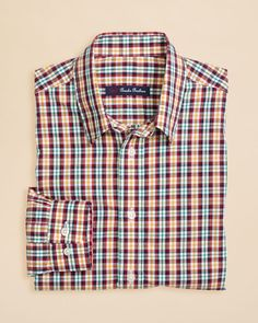 Brooks Brothers Boys' Mini Tattersall Sport Shirt - Sizes Xs-xl