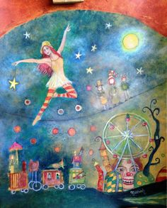 Haunted Circus, Paintings, Fine Art, Paint, Painting Art, Painting, Painted Canvas, Visual Arts, Drawings