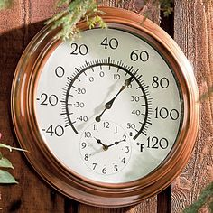 2 In 1 Outdoor Thermometer/Clock