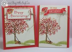 Stampin' Up! Sheltering Tree Fall Cards – Stamp With Amy K