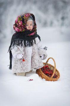 Beautiful Russian little girl: