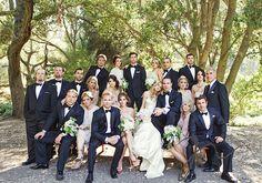 The Wedding Party- Jojo + Bobby | Malibu Calamigos Ranch. Photo by Joy Marie Studios.