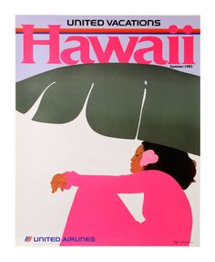 Vintage United Airlines Hawaii poster by the one and only Pegge Hopper. Hawaii Vintage, Vintage Hawaiian, Aloha Vintage, Vintage Travel Posters, Vintage Ads, Vintage Airline, Vintage Graphic, Pegge Hopper, Poster